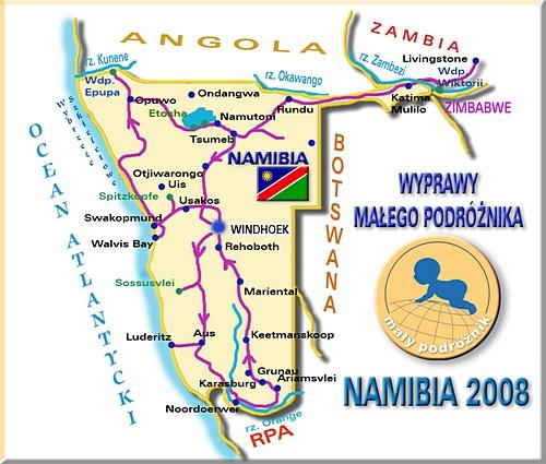 Nasza trasa w Namibii