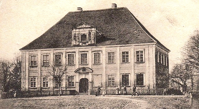 Pałac Heymanna w Ściborzu podczas pierwszej świetności (druga już za chwilę)