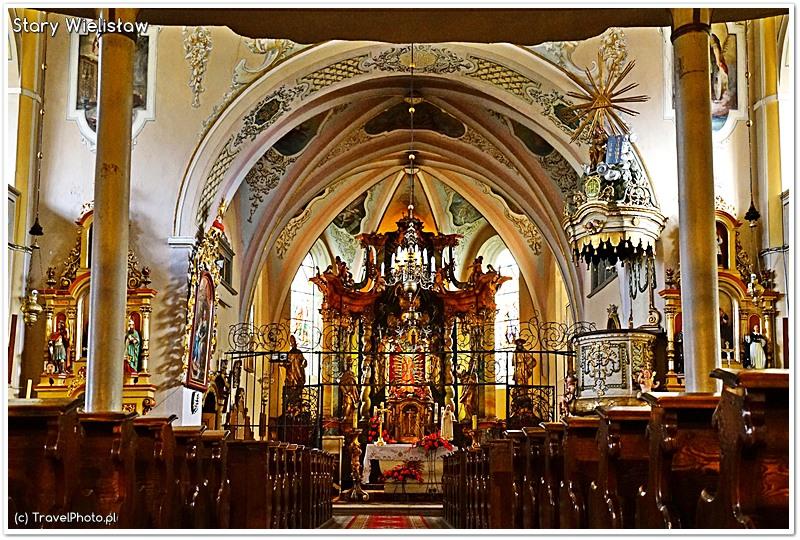 Stary Wielisław - wnętrze kościoła