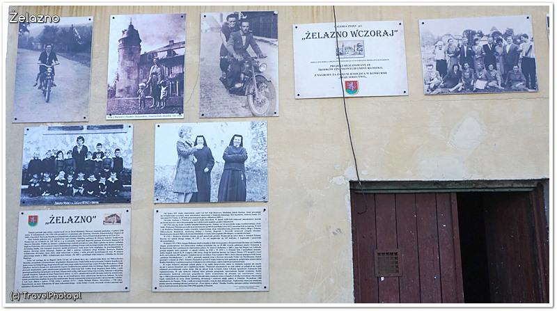 """Galeria """"Żelazno na starej fotografii"""" - na ścianie budynku koło parkingu kościelnego"""