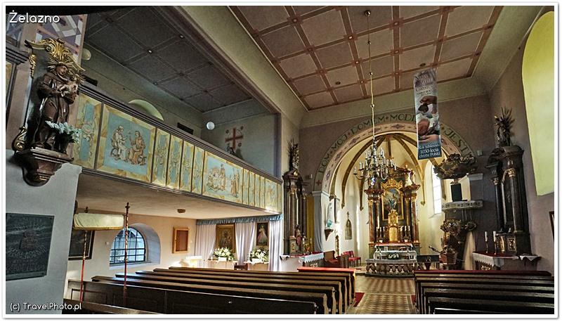 Żelazno - kościół św. Marcina, wnętrze
