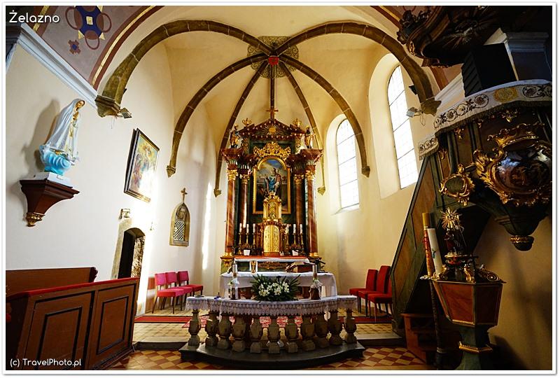 Żelazno - kościół św. Marcina, ołtarz główny