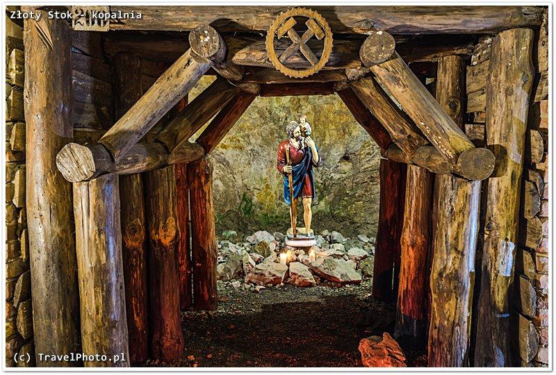 Patronem w kopalni złota jest Św. Krzysztof.