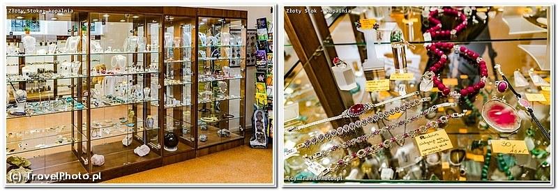 Złoty Stok, Kopalnia Złota - wystawa minerałów i sklep z biżuterią