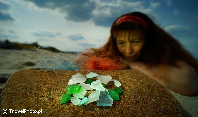 Ania ze szkłem morskim.
