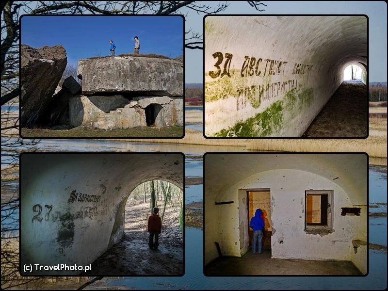 Twierdza Osowiec - bunkry na ścieżce przyrodniczej