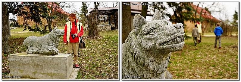 Wilki są nawet na pomnikach.