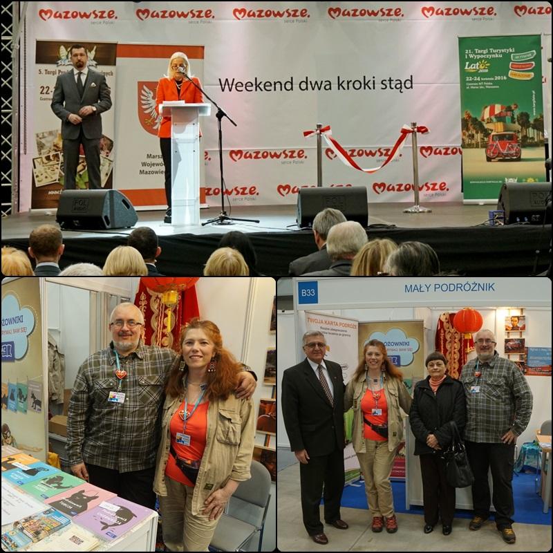 Górne: otwarcie Targów, Dolne-Lewe: MY, Dolne-Prawe: odwiedza nas Ambasador Kuby Juan Castro Martinez odwiedza nasze stoisko...