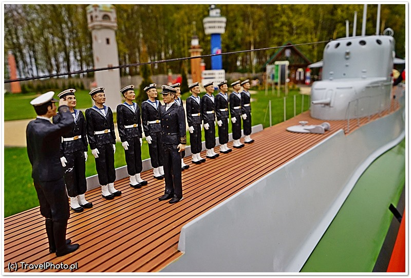 Makieta ORP Orzeł - Park Miniatur Latarni Morskich w Niechorzu