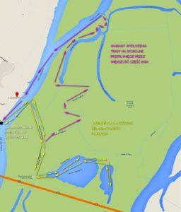 Mapa naszego spływu - kliknij by powiększyć