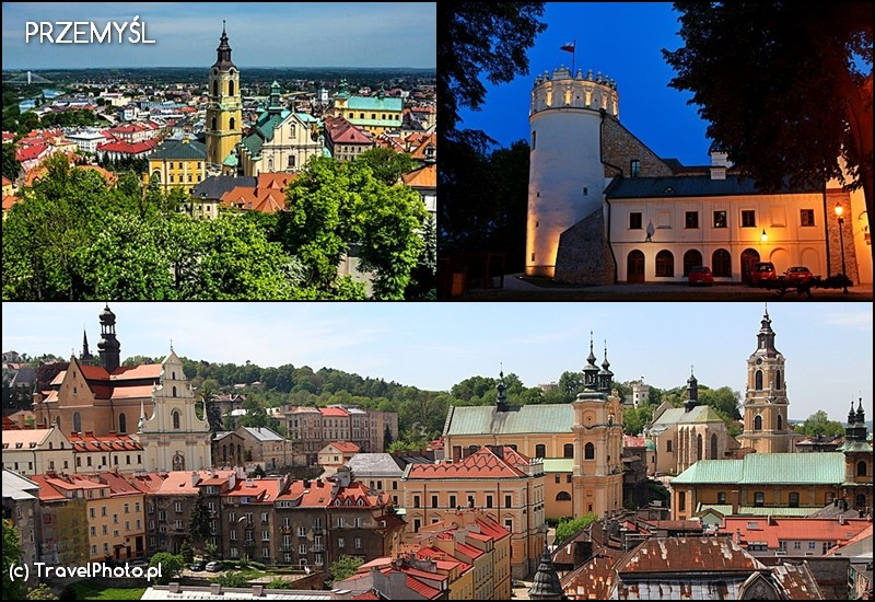 PRZEMYŚL - zamek i panoramy miasta