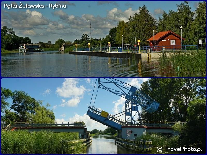 Pętla Żuławska - rybina, opuszczamy gościnną marinę i zmierzyć się wypada z mostem wprowadzającym na Wisłę Królewiecką