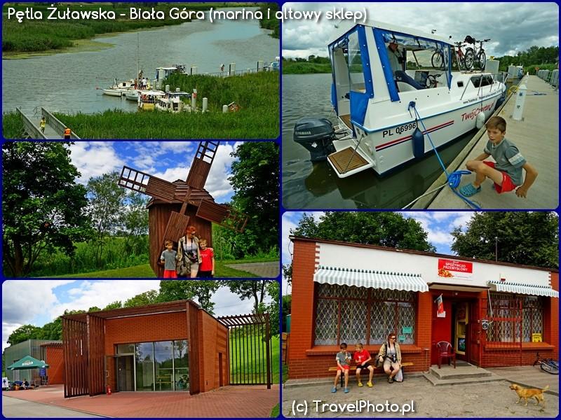 Pętla Żuławska - Biała Góra - marina i qltowy sklep na szlaku!