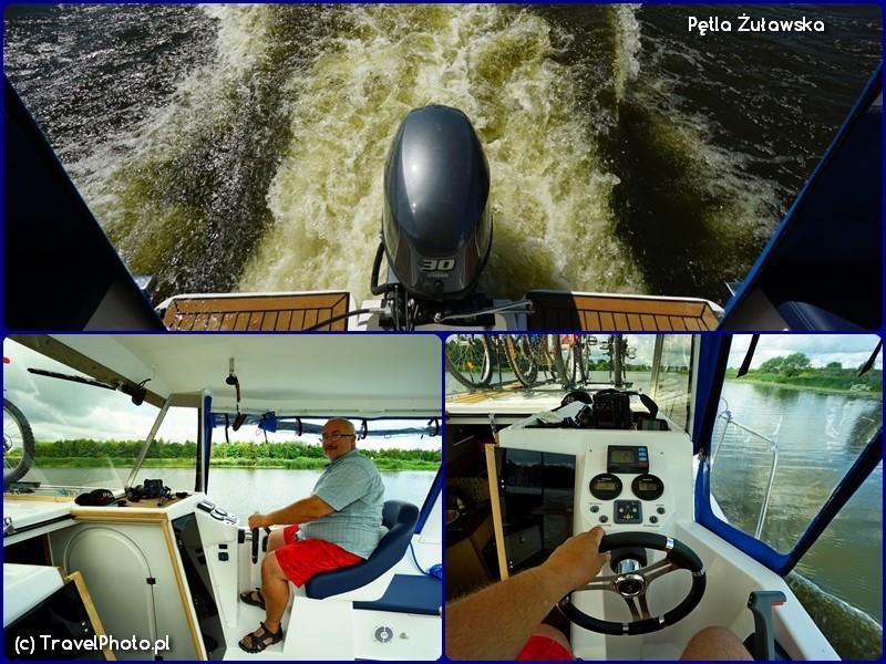 Pętla Żuławska - jacht Weekend 820 - silnik i sterówka