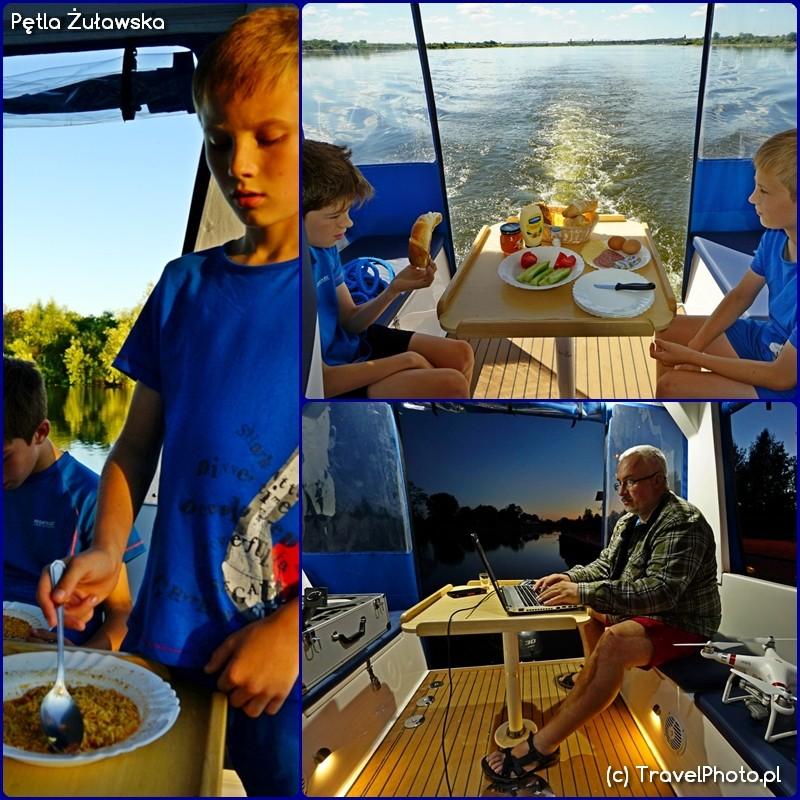 Pętla Żuławska - jacht Weekend 820 kokpit