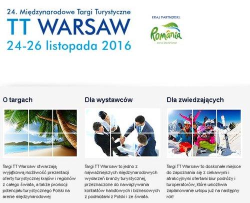 Zapraszamy na TARGI TURYSTYCZNE TT WARSAW!