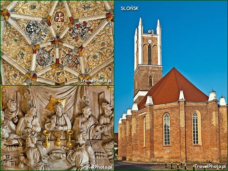 Słońsk - kościół (d. kapl. zamkowa) - sklepienia i jedna z alabastrowych płaskorzeźb