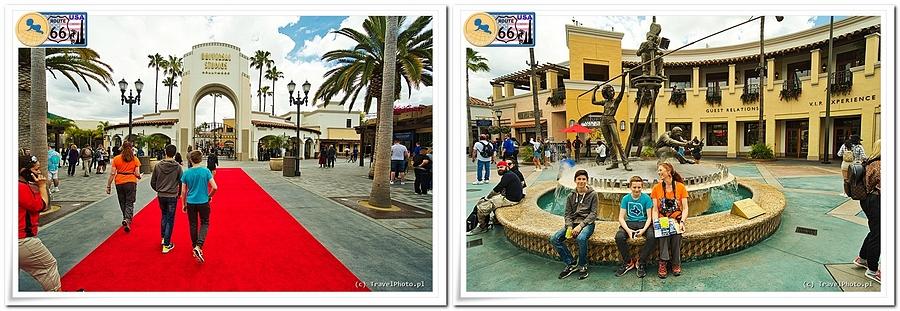 LA - Universal Studios, wejście po czerwonym dywanie