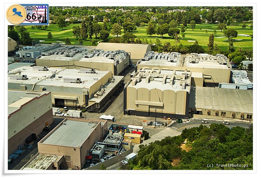 LA - Universal Studios, widok na studia na dolnym poziomie