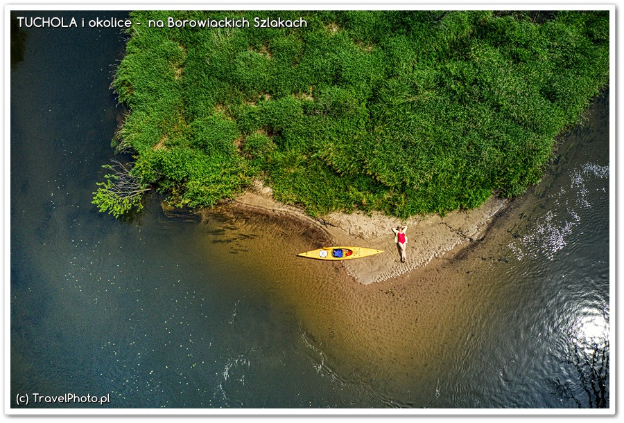Bory Tucholskie - plażing nad Brdą