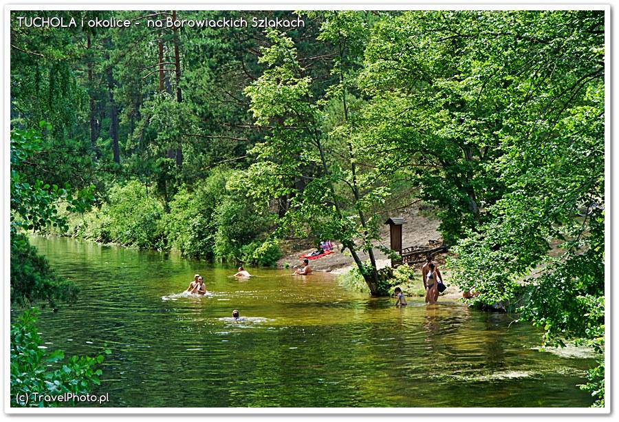 Fojutowo - Wielki Kanał Brdy i miejsce do kąpieli