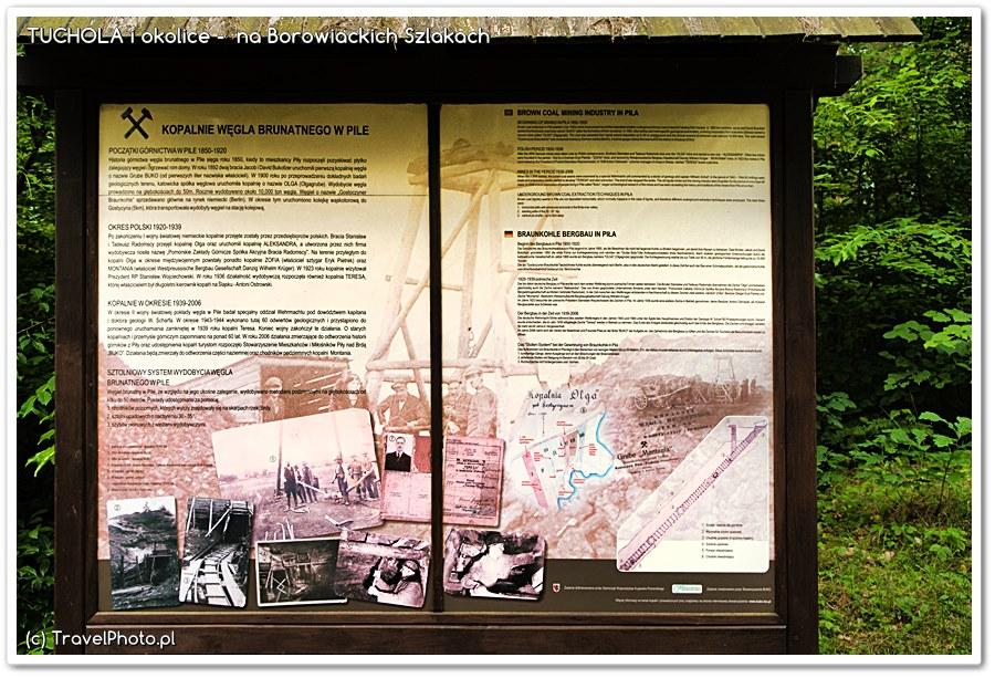 Górnicza Wioska - dawna kopalnia - tablice informacyjne