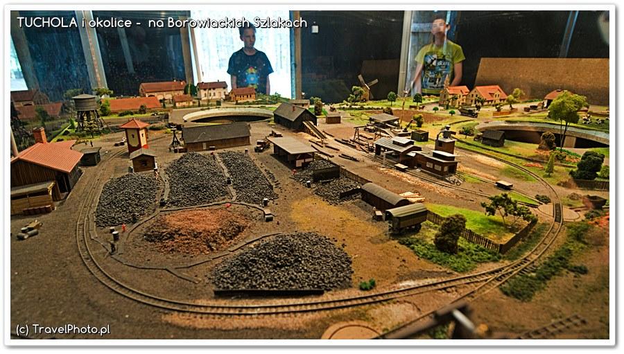 Górnicza Wioska - makieta pokazująca jak wyglądał tu teren w czasach kiedy działały kopalnie