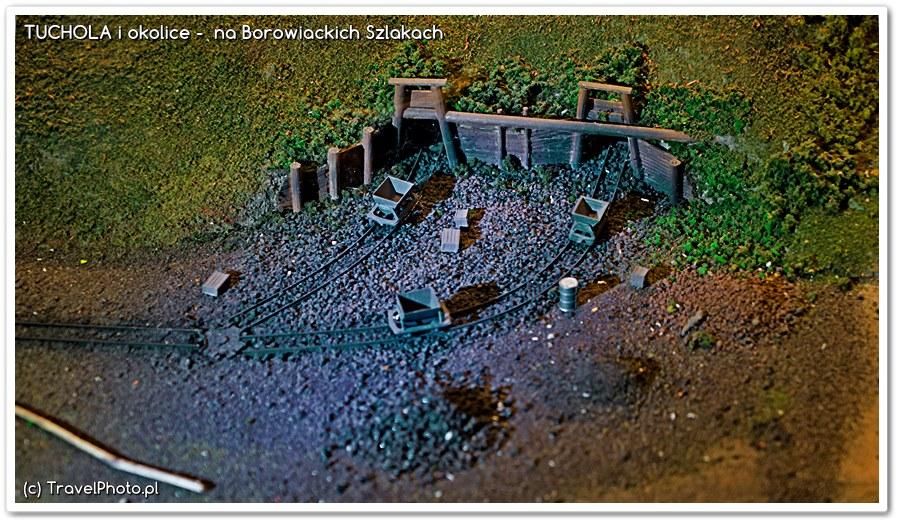Górnicza Wioska - tak wyglądały chodniki kopalni zaczynające się w skarpie nad Brdą