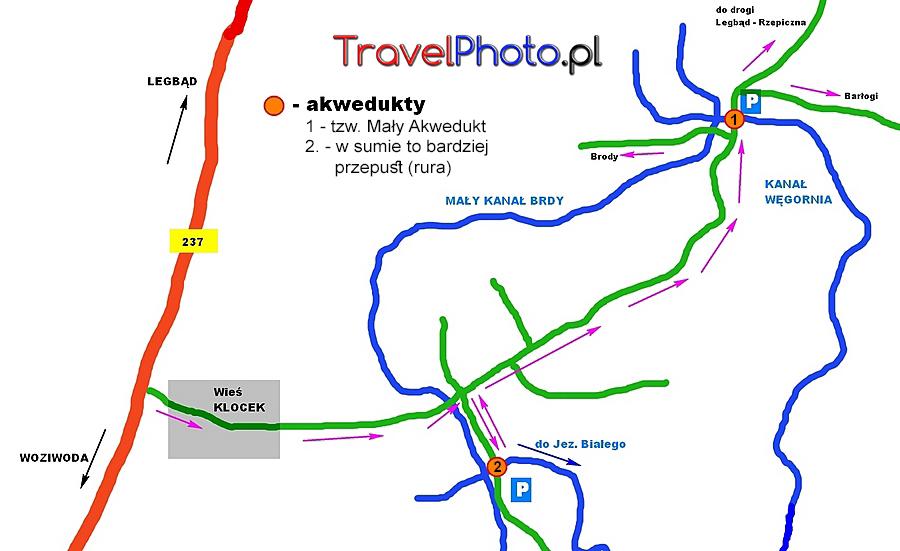 Bory Tucholskie - akwedukty poza Fujutowem