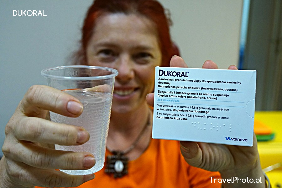 DUKORAL - doustna szczepionka przeciwko cholerze chroniąca również przed biegunką podróżnych