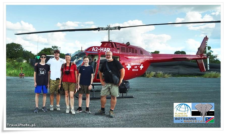 BOTSWANA - nasz helikopter, którym lecieliśmy nad Deltą Okavango