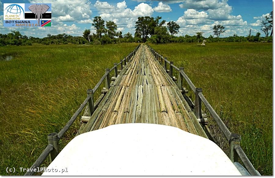 BOTSWANA - słynne mosty w Moremi