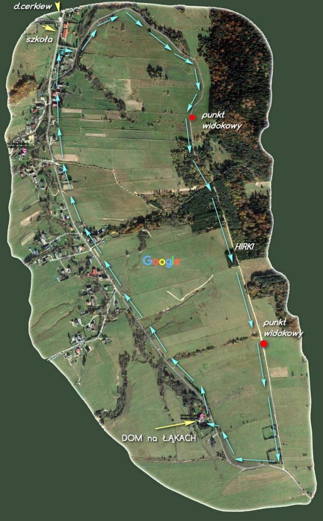 Mapa trasy rowerowej