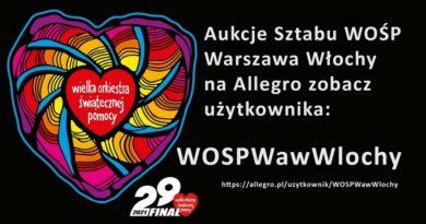 Aukcje Sztabu WOŚP Warszawa Włochy